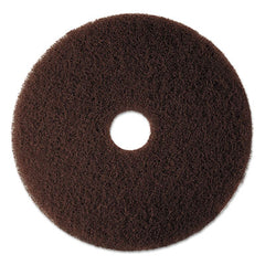 "3M™ Brown Stripping Pads 7100, 20"" Diameter, Brown, 5/Carton"