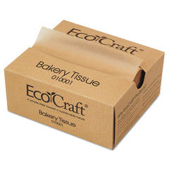 Bagcraft EcoCraft® Interfolded Dry Wax Bakery Tissue, 6 x 10 3/4, Natural,1000/Box, 10 Bx/Ct