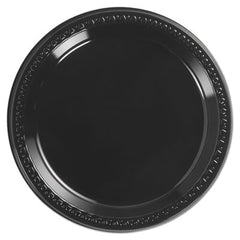 "Chinet® Heavyweight Plastic Dinnerware, 9"" Diamter, Black, 125/Pack, 4 Packs/CT"