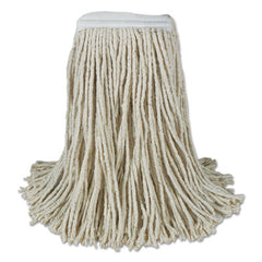 Boardwalk® Banded Cotton Mop Heads, 24oz, White, 12/Carton