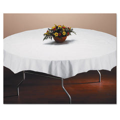 "Hoffmaster® Tissue/Poly Tablecovers, 82"" Diameter, White, 25/Carton"