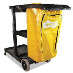 Impact® Janitorial Cart, Three-Shelves, 20.5w x 48d x 38h, Yellow