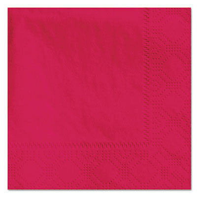 Hoffmaster® Embossed Beverage Napkins, 2-Ply, 9 1/2 x 9 1/2, Red, 1000/Carton Napkins-Beverage/Cocktail - Office Ready