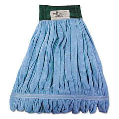 Boardwalk® Microfiber Looped-End Wet Mop Heads, Medium, Blue