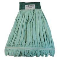 Boardwalk® Microfiber Looped-End Wet Mop Heads Wet Mop, Medium, Green, 12/Carton Mop Heads-Wet - Office Ready