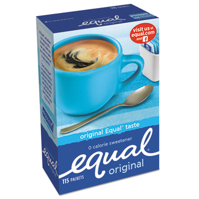 Coffee Condiments-Sweetener - Equal® Zero Calorie Sweetener 1 g Packet, 115/Box - Office Ready