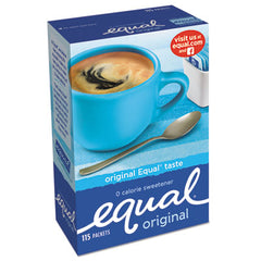 Equal® Zero Calorie Sweetener 1 g Packet, 115/Box