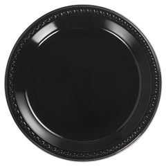 Chinet® Heavyweight Plastic Dinnerware, 10 1/4 Inches, Black, Round