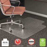 deflecto® RollaMat® Frequent Use Chairmat for Medium Pile Carpeting 45 x 53 w/Lip, Clear Mats-Chair Mat - Office Ready