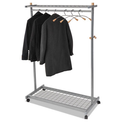 Alba™ Lux Garment Rack, Two Sided, 2 Shelf Coat Rack,