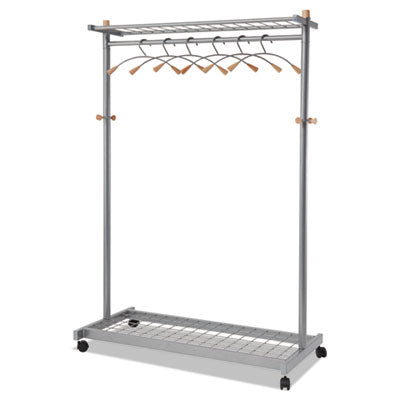 Alba Lux Garment Rack TwoSided 2Shelf Coat Rack 6 Hanger6