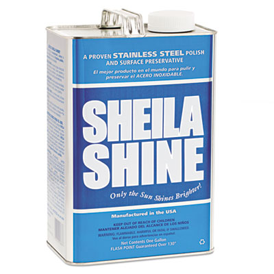 Sheila Shine Stainless Steel Cleaner & Polish, 1gal Can Cleaners & Detergents-Metal Cleaner/Polish - Office Ready