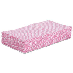 Boardwalk® Foodservice Wipers, Pink/White, 12 x 21, 200/Carton