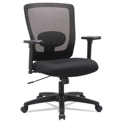 Alera® Envy Series Mesh Mid-Back Swivel/Tilt Chair, Black