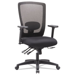 Alera® Envy Series Mesh High-Back Multifunction Chair, Black