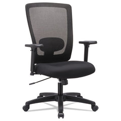Alera® Envy Series Mesh High-Back Swivel/Tilt Chair, Black