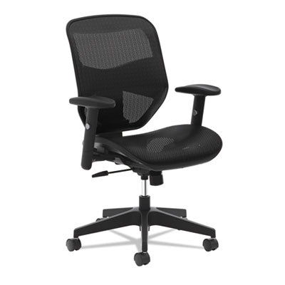 HON® VL534 Mesh High-Back Task Chair, Supports up to 250 lbs., Black Seat/Black Back, Black Base Chairs/Stools-Office Chairs - Office Ready