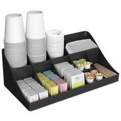 Mind Reader 11-Compartment Coffee Condiment Organizer 18 1/4 x 6 5/8 x 9 7/8, Black