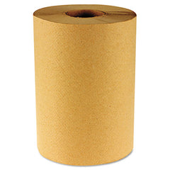 Boardwalk® Paper Towel Rolls Nonperforated 1-Ply Kraft, 800ft, 6 Rolls/Carton