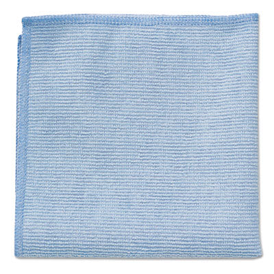 Rubbermaid® Commercial Microfiber Cleaning Cloths 16 X 16, Blue, 24/Pack Towels & Wipes-Washable Cleaning Cloth - Office Ready