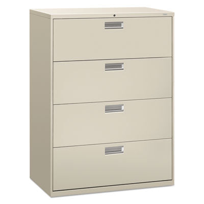 File Cabinets-Lateral - HON® Brigade® 600 Series Lateral File 42w x 19-1/4d, Light Gray - Office Ready