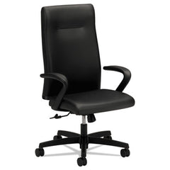 HON® Ignition® Series Executive High-Back Chair Black Leather Upholstery