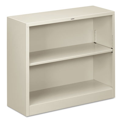 Bookcases - HON® Brigade® Metal Bookcases Two-Shelf, 34-1/2w x 12-5/8d x 29h, Light Gray - Office Ready