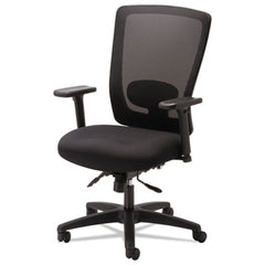 Alera® Envy Series Mesh Mid-Back Multifunction Chair, Black