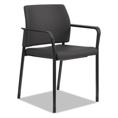 HON® Accommodate™ Series Guest Chair Black Fabric Chairs/Stools-Guest/Reception Chair - Office Ready