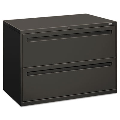 File Cabinets-Lateral - HON® Brigade® 700 Series Lateral File 42w x 19-1/4d, Charcoal - Office Ready