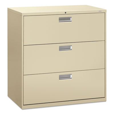 File Cabinets-Lateral - HON® Brigade® 600 Series Lateral File 42w x 19-1/4d, Putty - Office Ready