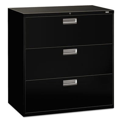 HON® Brigade® 600 Series Lateral File 42w x 19-1/4d, Black File Cabinets-Lateral - Office Ready