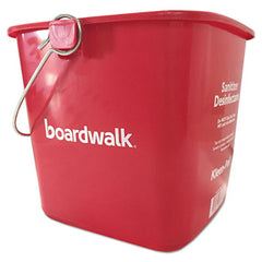 Boardwalk® Bucket, 6 qt, Red, Plastic