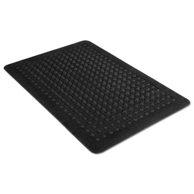 Guardian Flex Step Rubber Anti-Fatigue Mat Polypropylene, 24 x 36, Black Mats-Anti-Fatigue Mat - Office Ready