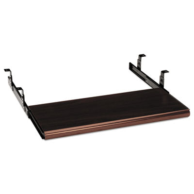 HON® Slide-Away Keyboard Platform Laminate, 21-1/2w x 10d, Mahogany Keyboard Drawers/Platforms - Office Ready