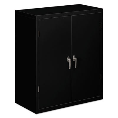 HON® Brigade® Assembled Storage Cabinet 36w x 18-1/4d x 41 3/4h, Black Storage Cabinets & Lockers - Office Ready