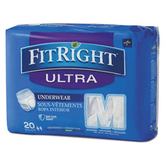 "Medline FitRight® Ultra Protective Underwear, Medium, 28"" to 40"" Waist, 20/Pack"