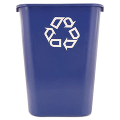 Rubbermaid® Commercial Deskside Recycling Container Rectangular, Plastic, 41.25qt, Blue