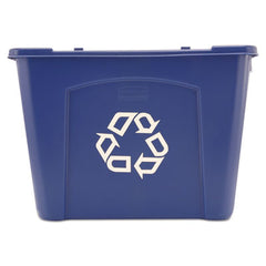 Rubbermaid® Commercial Stacking Recycle Bin Rectangular, Polyethylene, 14gal, Blue