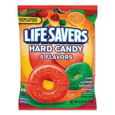 Food-Candy - LifeSavers® Hard Candy Individually Wrapped, 6.25oz Bag - Office Ready