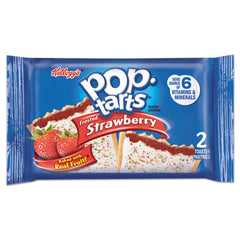 Kellogg's® Pop Tarts® Frosted Strawberry, 3.67 oz, 2/Pack, 6 Packs/Box