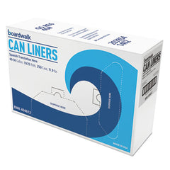 Boardwalk® High-Density Can Liners, 40x46, 40- 45gal, 10mic, Natural, 25/Roll, 10 Rolls/CT