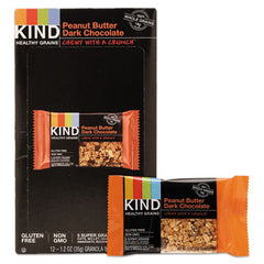 KIND Healthy Grains Bars Peanut Butter Dark Chocolate, 1.2 oz, 12/Box