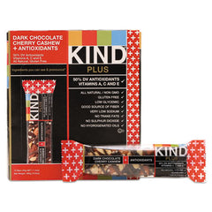 KIND Plus Nutrition Boost Bars Dk ChocolateCherryCashew/Antioxidants, 1.4 oz, 12/Box