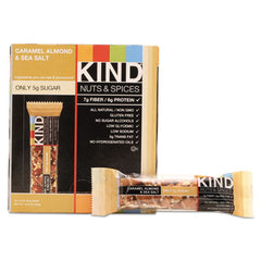 KIND Nuts and Spices Bar Caramel Almond and Sea Salt, 1.4 oz Bar, 12/Box