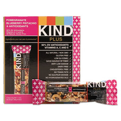 KIND Plus Nutrition Boost Bars Pom. Blueberry Pistachio/Antioxidants, 1.4 oz, 12/Box