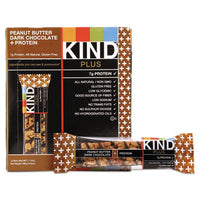 KIND Plus Nutrition Boost Bars Peanut Butter Dark Chocolate/Protein, 1.4 oz, 12/Box Food-Nutrition Bar - Office Ready