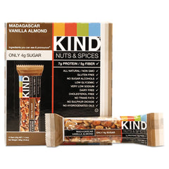 KIND Nuts and Spices Bar Madagascar Vanilla Almond, 1.4 oz, 12/Box