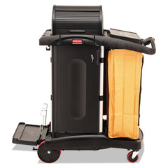 Rubbermaid® Commercial High-Security Healthcare Cleaning Cart, 22w x 48-1/4d x 53-1/2h, Black