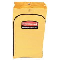 Rubbermaid® Commercial Zippered Vinyl Cleaning Cart Bag 21gal, 17 1/4w x 10 1/2d x 30 1/2h, Yellow